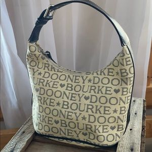 Dooney and Bourne Maxi Hobo bag Ribbed fabric VGUC